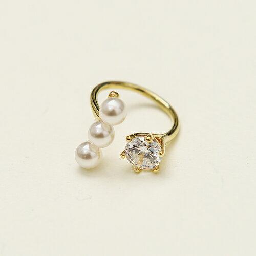 ECO安珂.珍珠有點甜 戒指 2色 ~4~414~