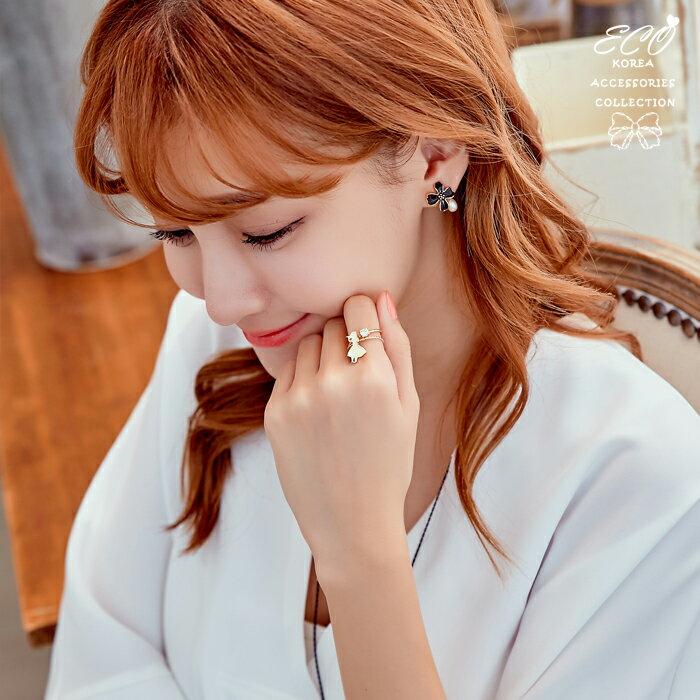 愛麗絲夢遊仙境戒指,雙戒指,簡約戒指,韓製,韓貨,戒指