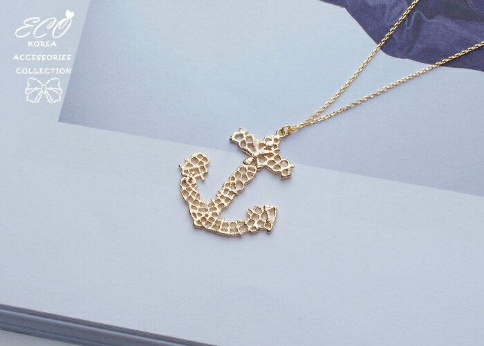 船錨,長項鍊,項鍊,韓貨,韓製