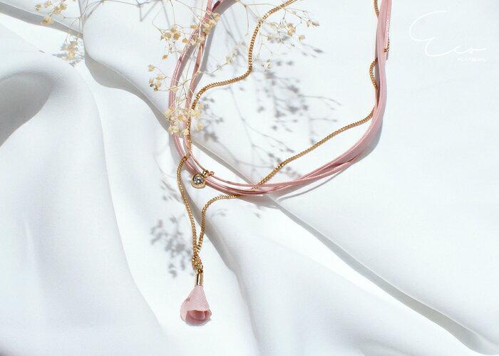 花,鑽,頸鍊,韓製,韓國