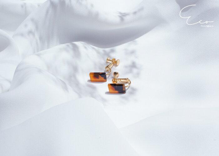 琥珀,夾式耳環,無耳洞耳環,韓製,韓國,耳環