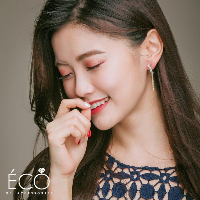 流蘇,婚宴夾式耳環,伴娘夾式耳環,無耳洞耳環,韓製,韓國,耳環