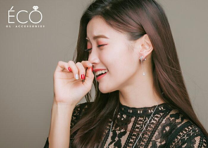 蝴蝶,鑽,垂墜,珍珠,婚宴夾式耳環,伴娘夾式耳環,無耳洞耳環,韓製,韓國,耳環