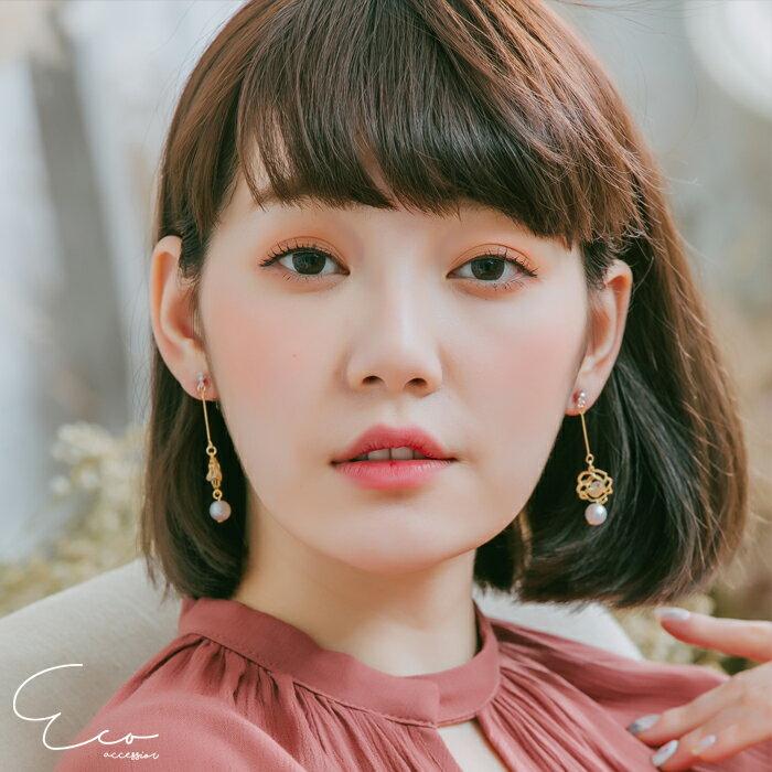 玫瑰,夾式耳環,無耳洞耳環,韓製,韓國,耳環