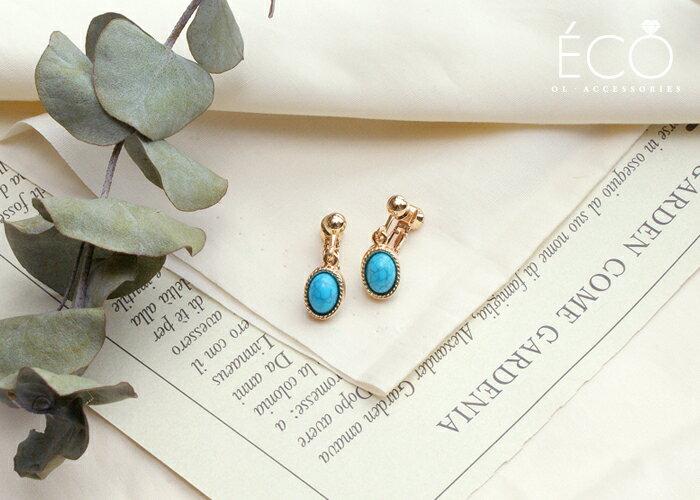 大理石,夾式耳環,無耳洞耳環,韓製,韓國,耳環