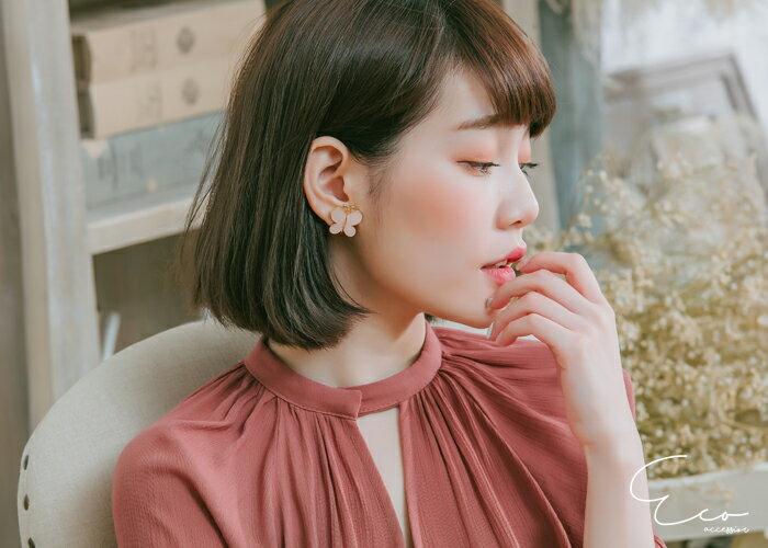 蝴蝶,夾式環,無洞環,韓製,韓國,環