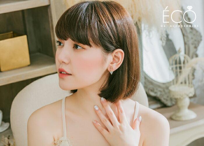 三角形,夾式耳環,無耳洞耳環,韓製,韓國,耳環