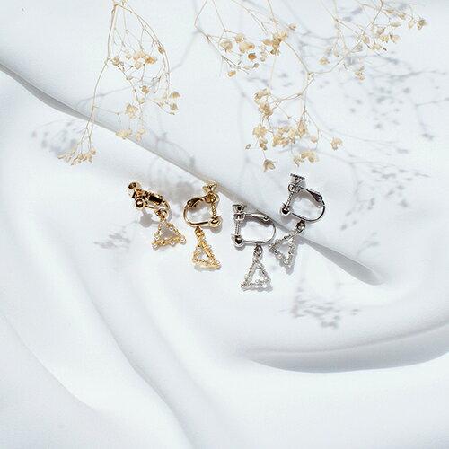 (預購)ECO安珂.優雅珍珠漫漫 針式/夾式耳環(2色/螺旋夾)【2-2126】