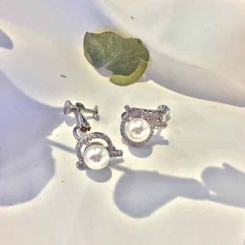 (預購)ECO安珂.無限交織夾式耳環(螺旋夾)【2-2157】