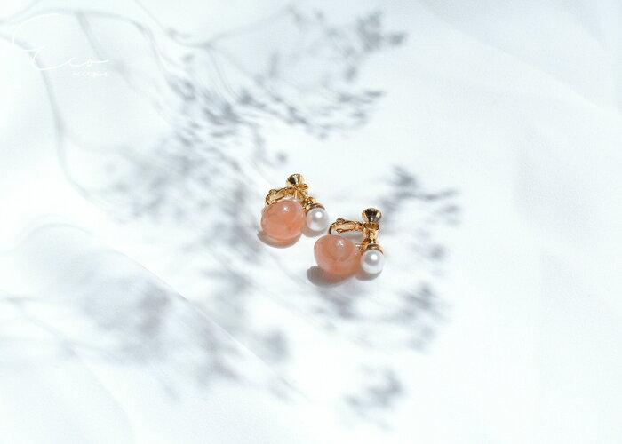 珍珠夾式耳環,圓珠夾式耳環,無耳洞耳環,夾式耳環,韓製,韓國,耳環
