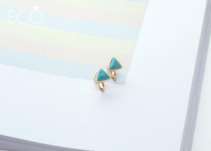 土耳其藍,夾式耳環,無耳洞耳環,韓製,韓國,耳環