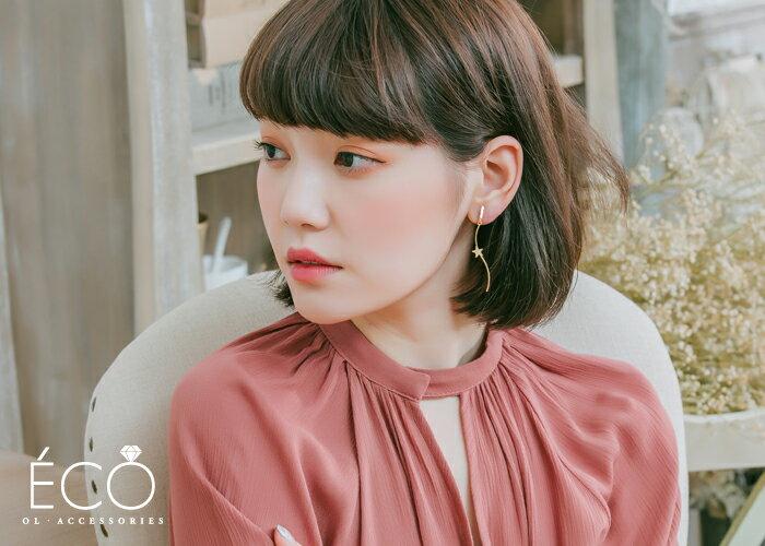 不對稱,珍珠,鑽,夾式耳環,婚宴夾式耳環,伴娘夾式耳環,無耳洞耳環,韓製,韓國,耳環