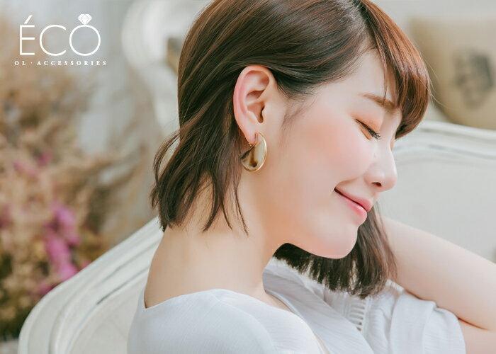 琥珀,c圈,夾式耳環,無耳洞耳環,韓製,韓國,耳環
