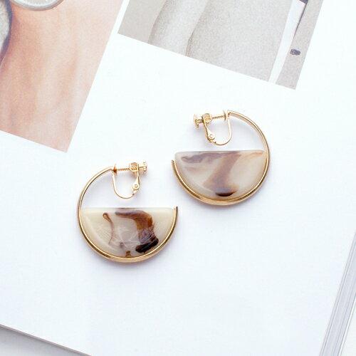 法國女伶耳夾式耳環(螺旋夾)【2-2656】ECO安珂
