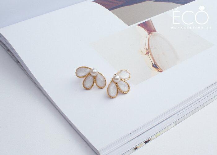 珍珠,無耳洞耳環,韓製,韓國,耳環