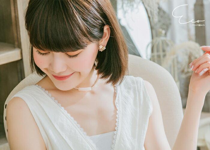 釉彩,花,夾式耳環,無耳洞耳環,韓製,韓國,耳環