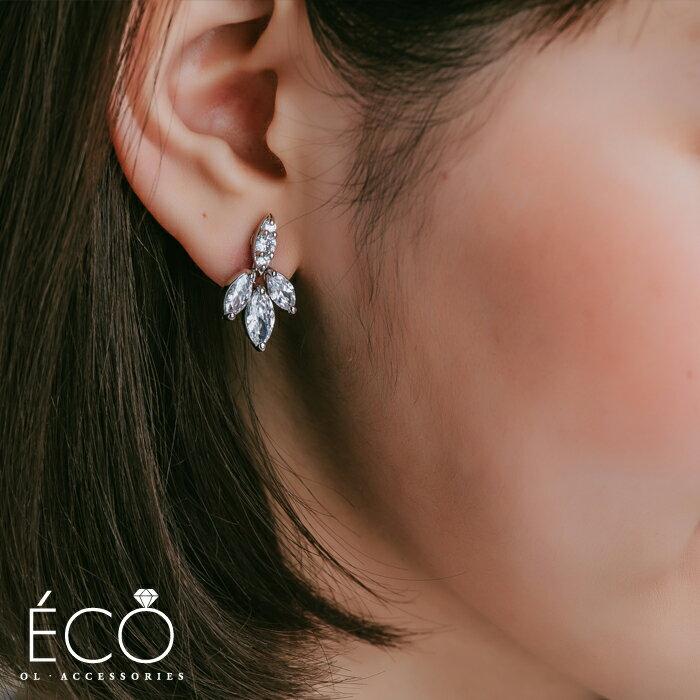 婚宴夾式耳環,伴娘夾式耳環,無耳洞耳環,韓製,韓國,耳環