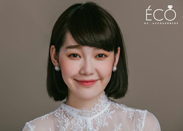 珍珠,婚宴夾式耳環,伴娘夾式耳環,無耳洞耳環,韓製,韓國,耳環