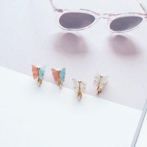 (預購)妳是我的小蝴蝶耳夾式耳環(2色螺旋夾)【2-2690】ECO安珂
