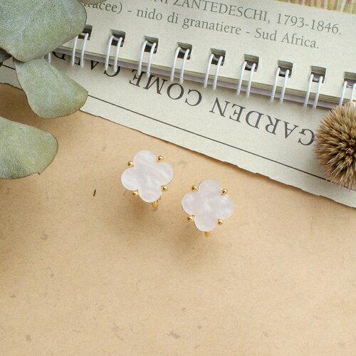 (預購)四片幸運草耳夾式耳環(2色螺旋夾)【2-2691】ECO安珂