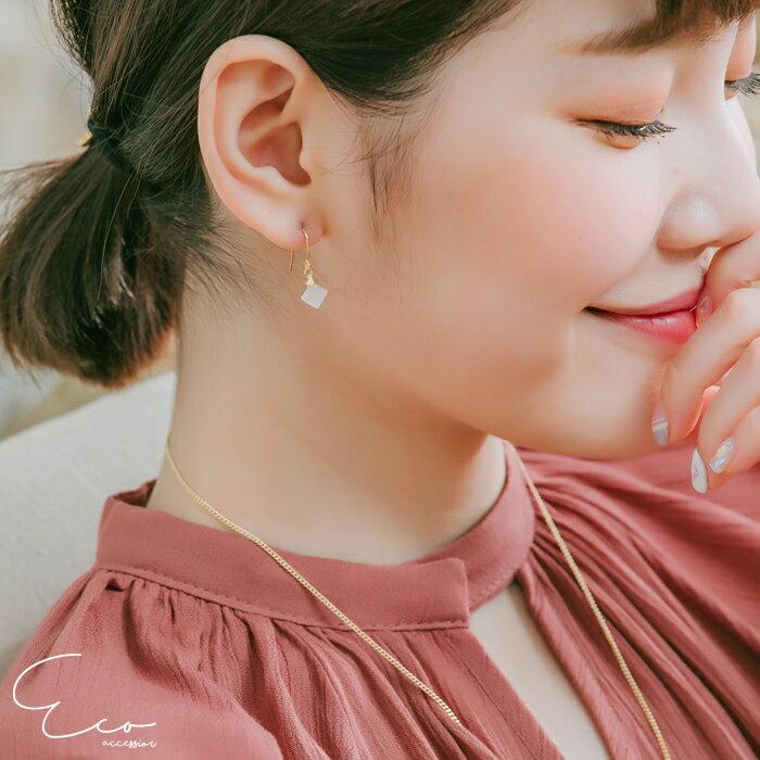 菱形,夾式耳環,無耳洞耳環,韓製,韓國,耳環