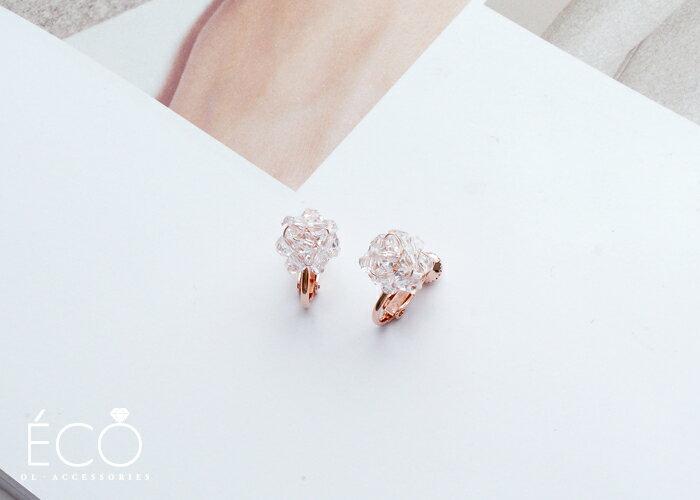 透明,夾式耳環,無耳洞耳環,韓製,韓國,耳環