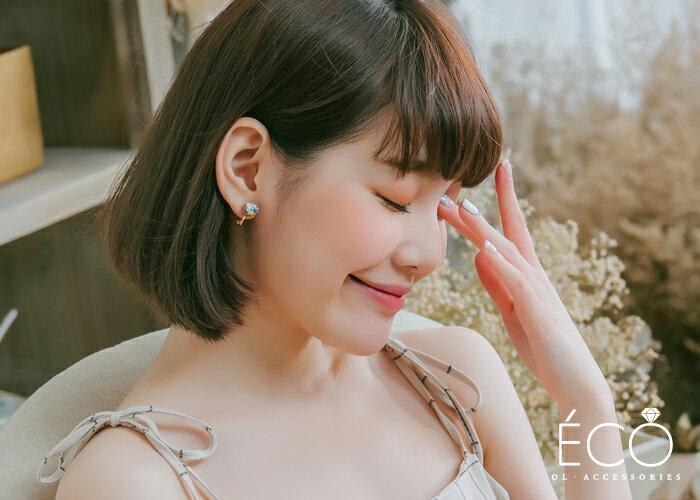 亮片,星星,夾式耳環,無耳洞耳環,韓製,韓國,耳環