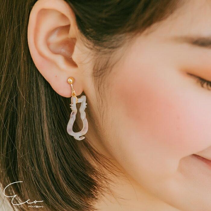 貓,夾式耳環,無耳洞耳環,韓製,韓國,耳環