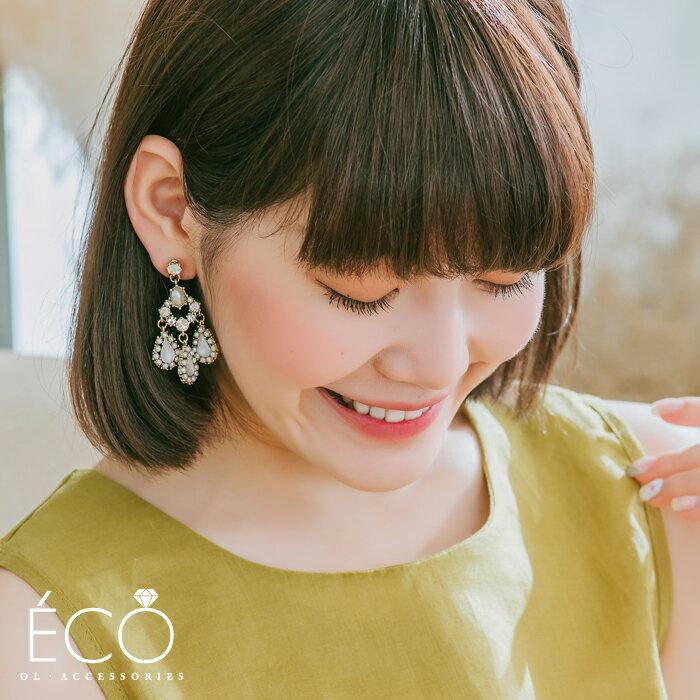 華麗,夾式耳環,無耳洞耳環,韓製,韓國,耳環