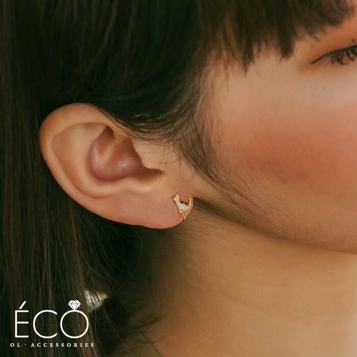 日本製,貓,釉彩,夾式耳環,無耳洞耳環,韓製,韓國,耳環