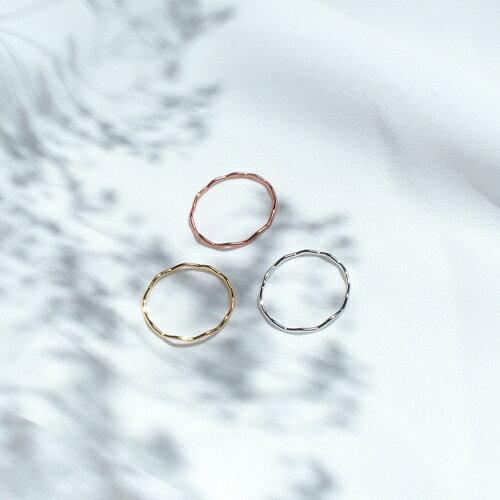 ECO安珂.簡約細波紋造型戒指(3色)【4-426】