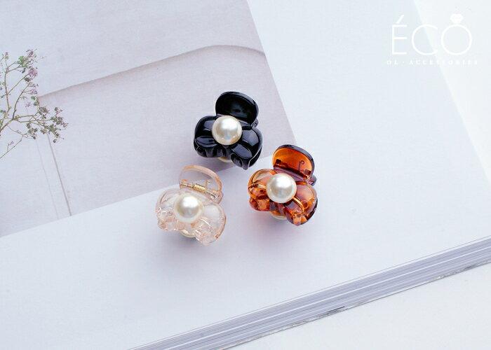 蝴蝶結,珍珠,抓夾,髮夾,髮飾,韓國飾品