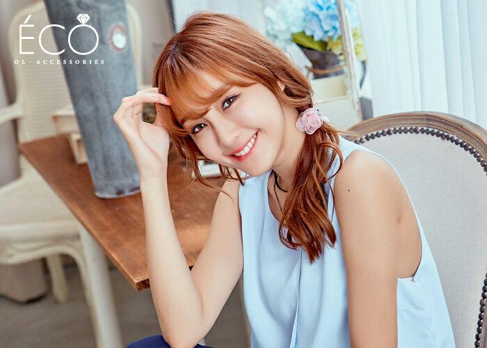 玫瑰,抓夾,髮束,韓國飾品