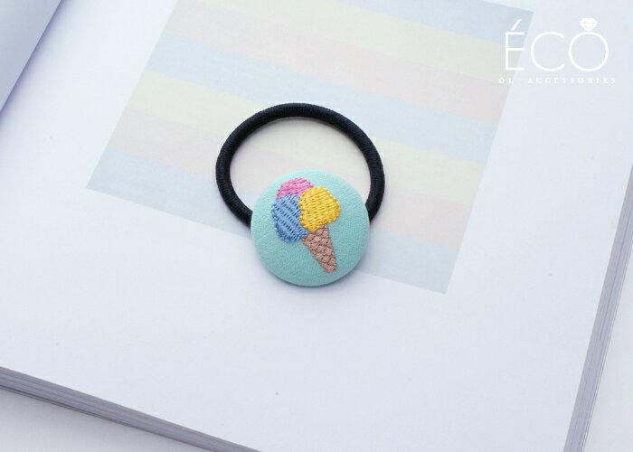 冰淇淋,抓夾,髮束,韓國飾品