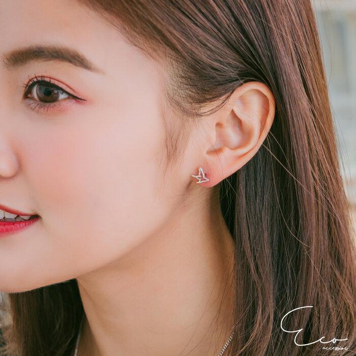 鏤空,蝴蝶,純銀針耳環,925純銀耳環,抗過敏耳環