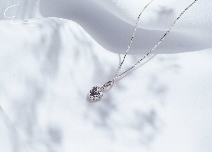 草莓項鍊,鎖骨項鍊,鎖骨項鏈,925純銀項鍊,925純銀項鏈,純銀飾品,韓國項鍊