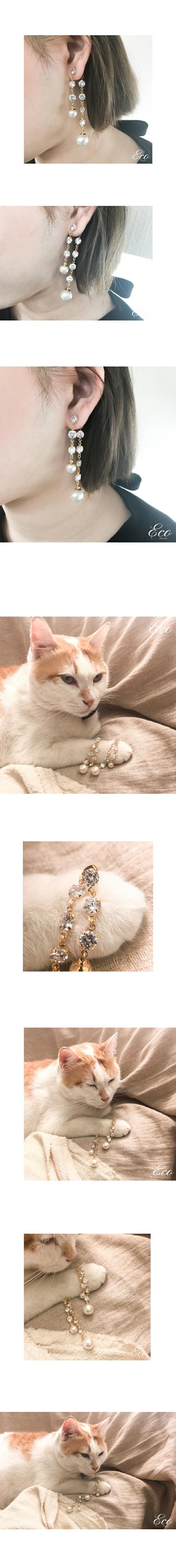 夾式耳環,耳夾式耳環,針式耳環,流蘇耳環,鑽石耳環,璀璨耳環,華麗耳環,垂墜耳環,無耳洞耳環,正韓飾品,韓貨耳環