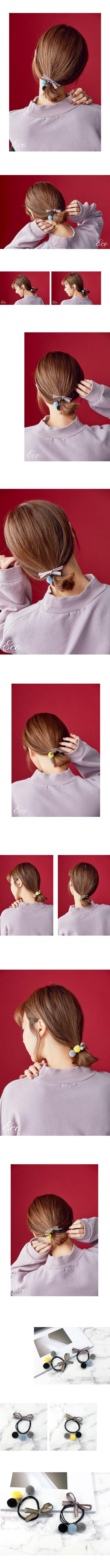 髮飾,髮束,髮圈,毛球髮圈,球球髮圈,蝴蝶結髮圈,緞帶髮圈,正韓飾品,韓貨髮飾