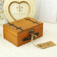 鄉村風zakka雜貨到●ECO安珂●【E15-001】鄉村風情 木質皮箱造型珠寶盒/收納盒