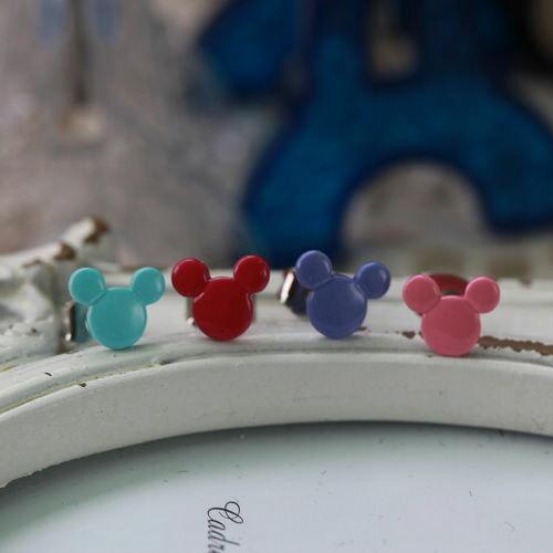 ECO安珂.多色米奇頭造型 貼耳耳環(3款)【2-1197】