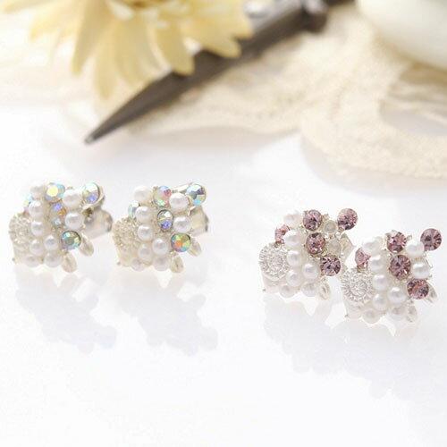 (預購+現貨)可愛小棉羊耳環(2色)【2-843】(純銀耳針)
