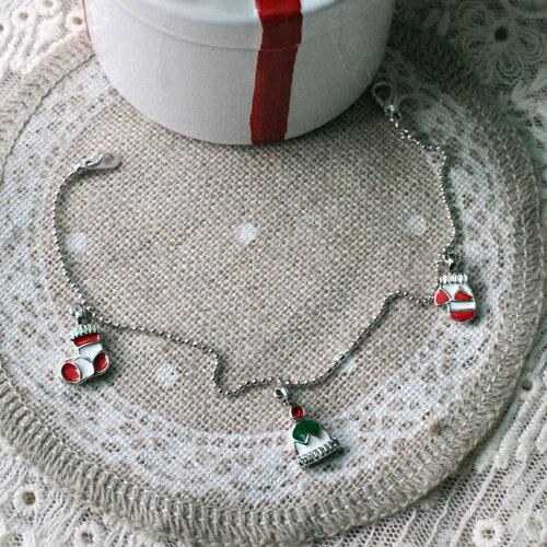 聖誕帽&聖誕襪&手套手鍊【3-314】