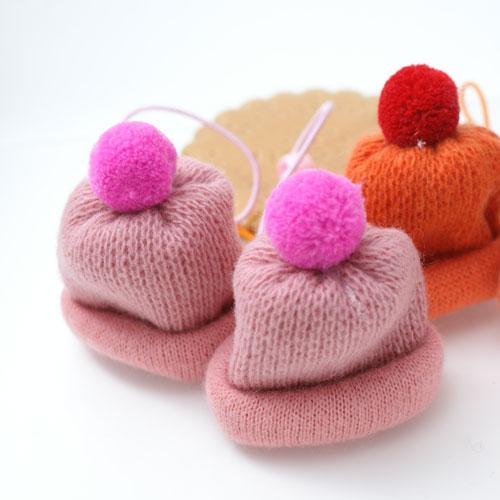ECO安珂.毛線帽造型髮束(一對銷售2色)【6-611】