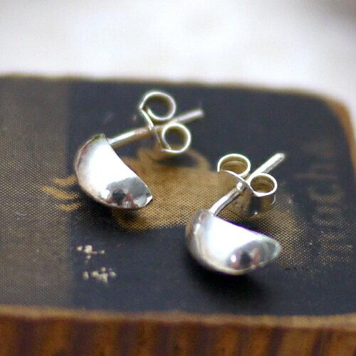 (預購+現貨)水滴葉子弧形設計925純銀耳環【8-080】