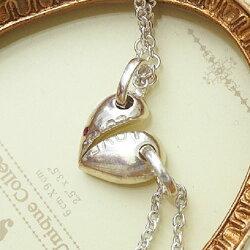 (現貨)心有靈犀 愛心LOVE墜飾 925純銀項鍊/情人對鍊 【9-185】