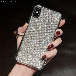 Free Shop 蘋果 iPhone X/XS/XR/XS MAX/8/7/6 手工全水鑽滿版鑽bling電鍍手機殼【QCNS30189】
