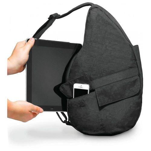 Healthy Back Bag Extra Small Classic Distressed Nylon Tote Bag - Color: Crimson 3
