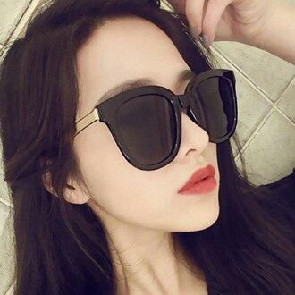 50%OFF SHOP【J021166GLS】2017新款復古V牌太陽鏡 韓版時尚太陽眼鏡炫彩反光墨鏡眼鏡
