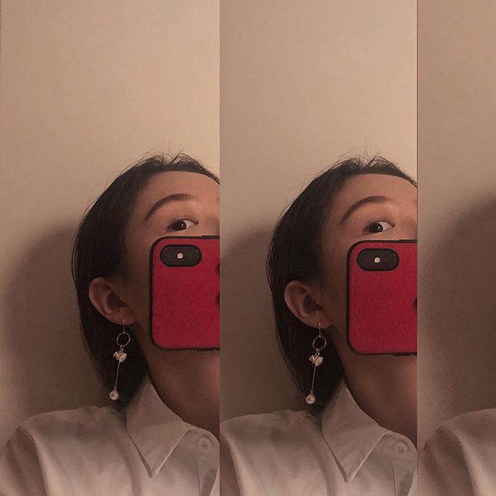 原創手工復古巴洛克天然淡水珍珠耳環設計感長款氣質簡約耳墜女1入