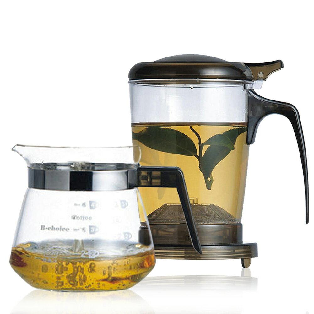 【丞漢】快速沖泡壺(玻璃杯)/咖啡兩用泡茶壺+玻璃小巧壺PC-500-1